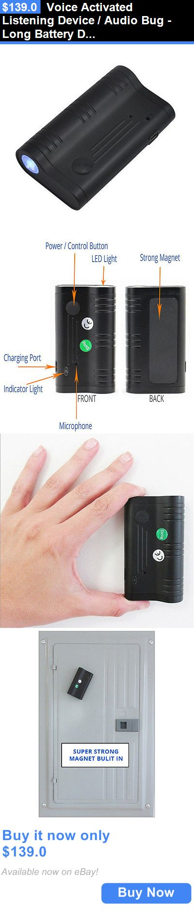 Voice Recorders Dictaphones: Voice Activated Listening Device / Audio Bug -Long Battery Digital Spy Recorder BUY IT NOW ONLY: $139.0