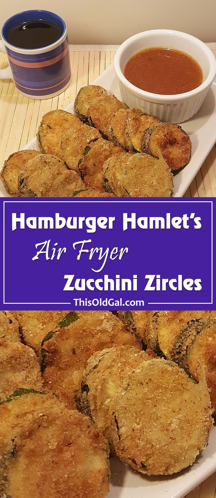 Air Fryer Hamburger Hamlet's Zucchini Zircles via @thisoldgalcooks