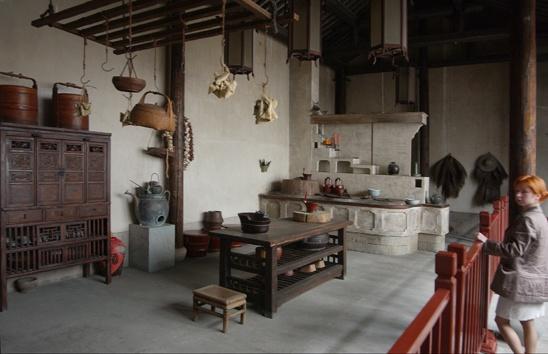 Ancient chinese kitchen  style asian  China kitchen