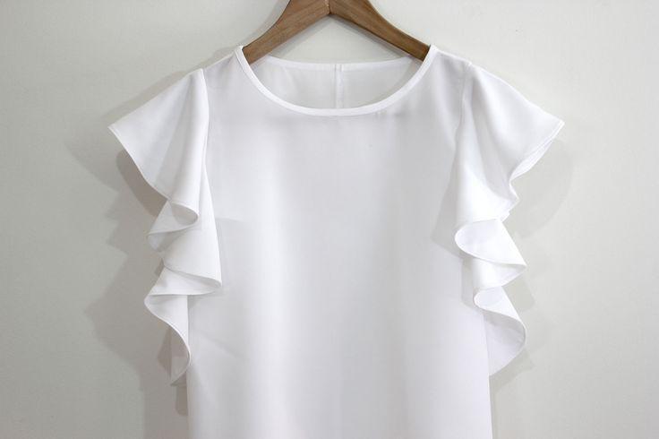 DIY Costura: Como hacer blusa con volantes en las mangas (patrones gratis) | | Oh, Mother Mine DIY!!