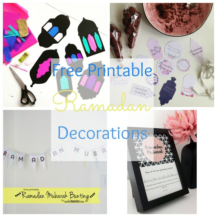 To help you get into the decorating spirit, we've pulled together a list of free printables of Ramadan from some of our favorite bloggers. You'll find lots of creative ways to add a personal touch to your Ramadan this year inshaa allaah. This list includes free printables for banners, lanterns, gift tags and posters. So we really hope you enjoy this list, and share other printables you may come across inshaa Allah. Ramadan Sun-catchers from Sweet Fajr Ramadan Mubarak Labels from Mouslima…
