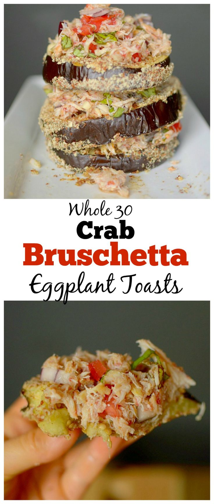Need a crowd-pleasing appetizer? Make these Crab Bruschetta Eggplant Toasts…
