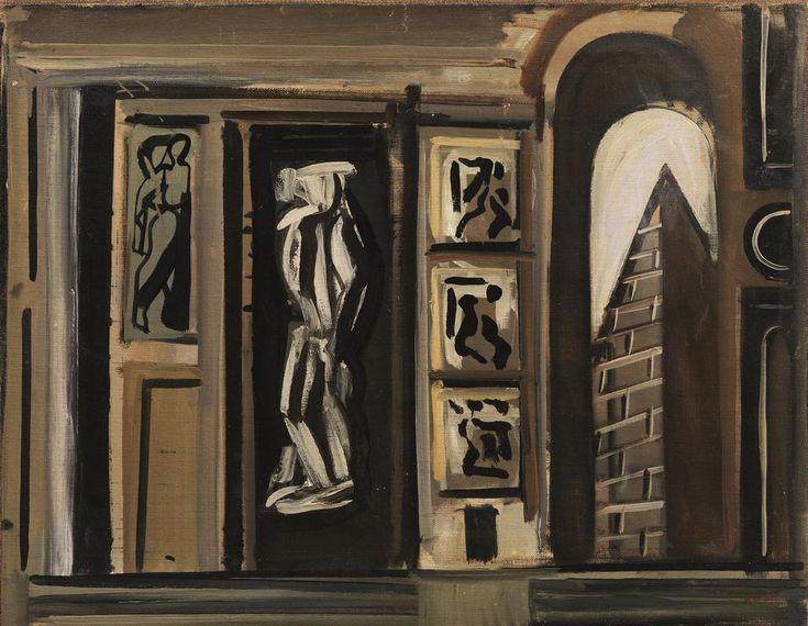 Mario Sironi (1885–1961), COMPOSIZIONE, 1933, olio su tela, cm 54x68,5