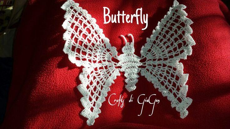 Crochet butterfly/ farfalla all'uncinetto
