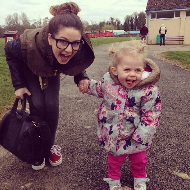 Zoe and Baby Darcy at the park