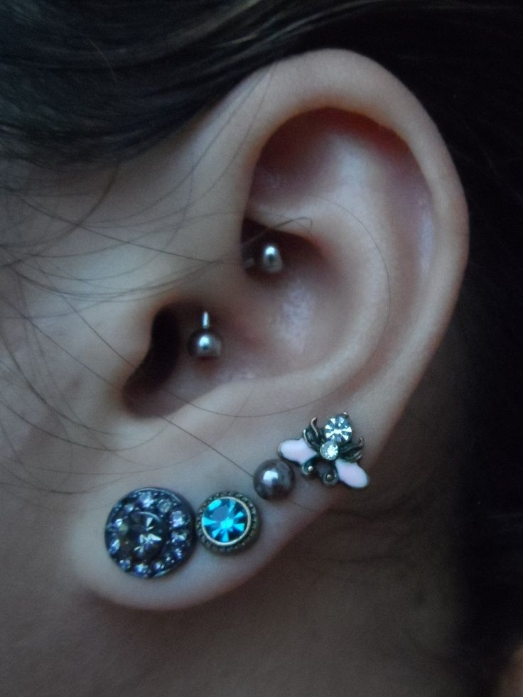 Daith Piercing With Curved Barbell  On The Fashion Time      Thefashiontime Com  5
