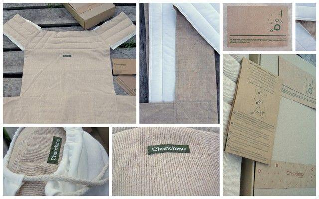 Portabebé en algodón Nativo - Kit pegadito Chuchino eco-bebé