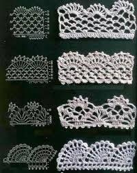 Resultado de imagen de puntillas de crochet