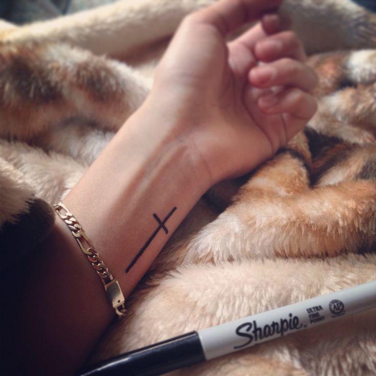 Cross Tattoo wrist placement