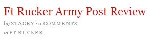 Fort Rucker Army Post Revie by Stacey at Married to the Army  http://marriedtothearmy.com/ft-rucker-army-post-review/
