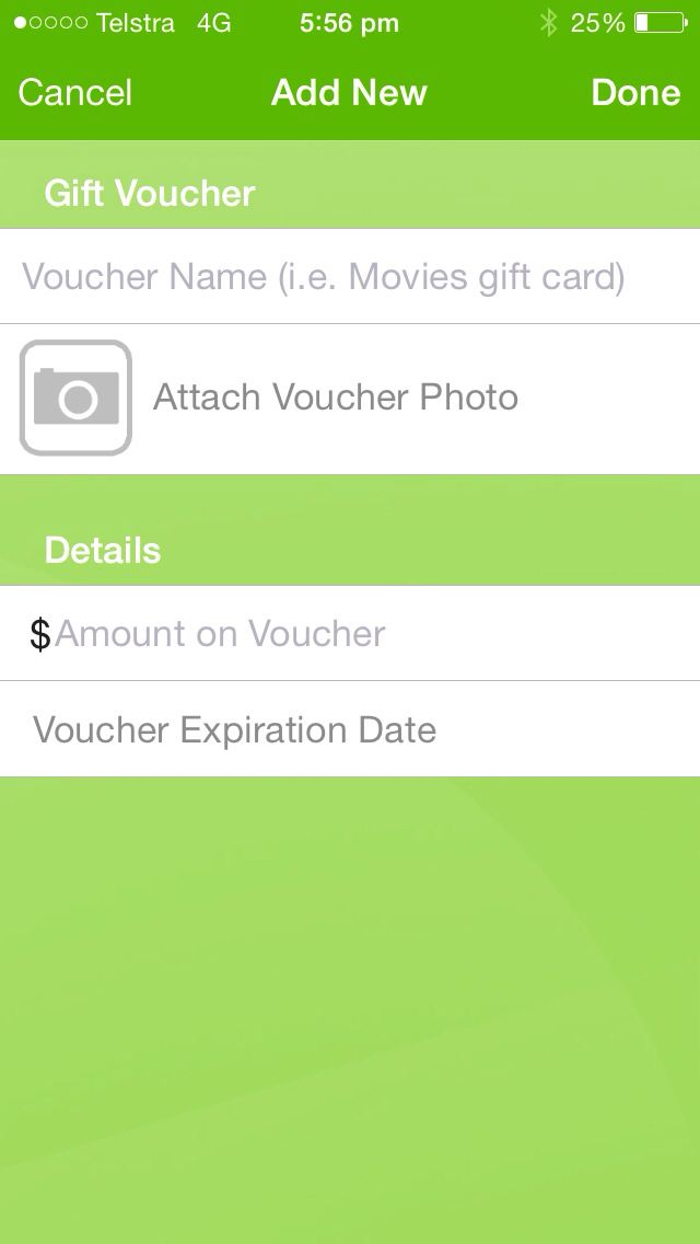 The gift voucher category of FILE IT