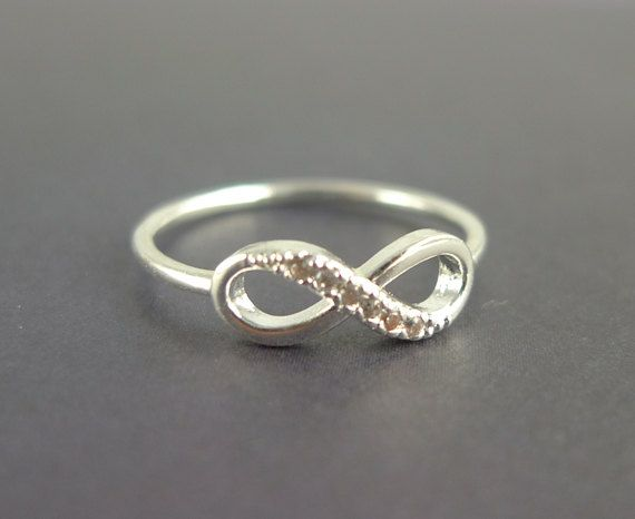 silver infinity ring