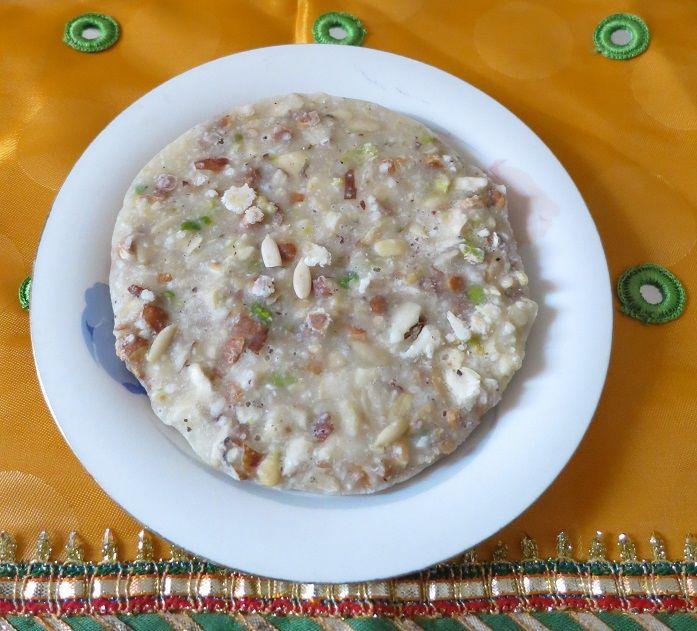 Dry Fruits Fudge - a specialtydessert on Krishna Janmashtami             Krishna Janmashtmi  is the celebration to mark the birth ...