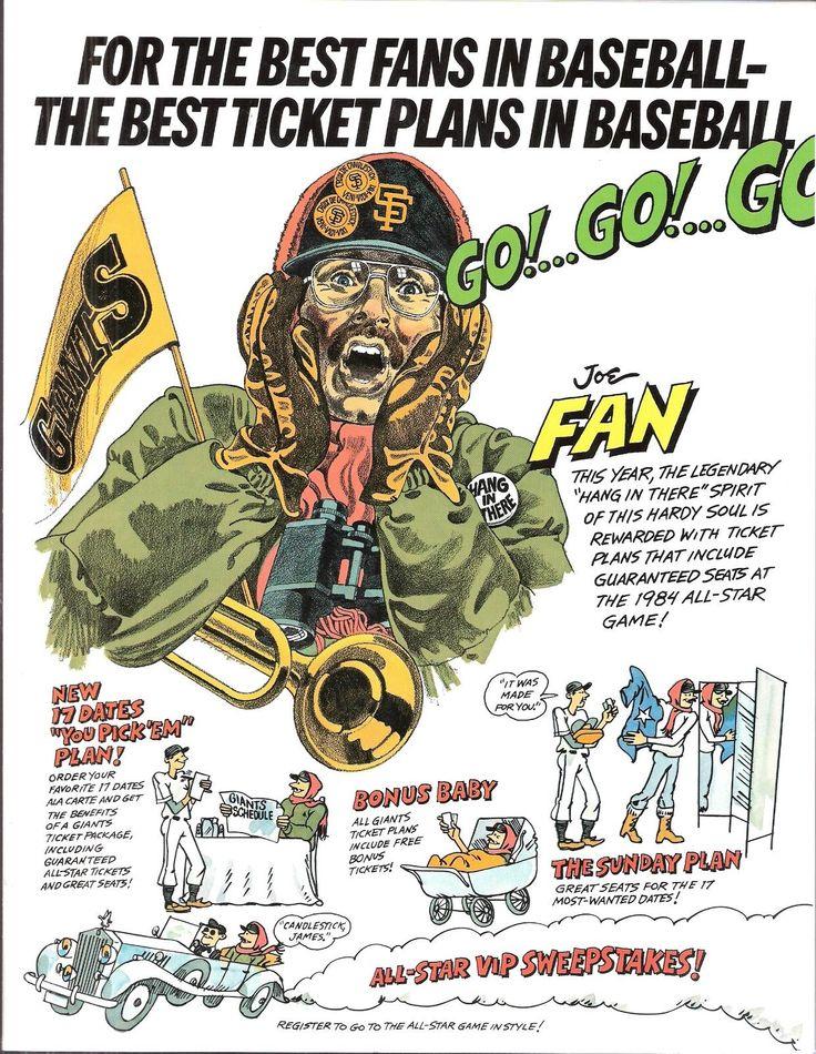 1984 San Francisco Giants ticket brochure poster