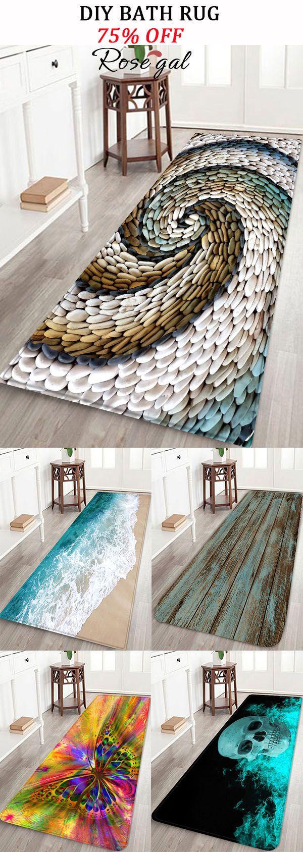 Diy Bath Rugs Ideas Bathroom Mat Rosegal Homedecor Diy Bath Rug Floor Rugs Bath Rugs [ 1688 x 600 Pixel ]