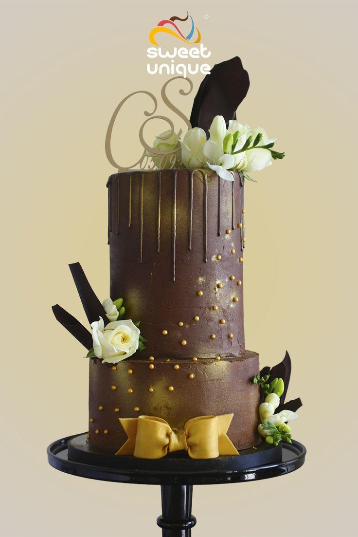 Bruidstaarten » SweetUnique (chocolade ganache)