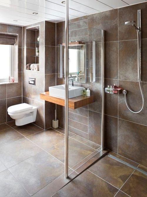 18 Kleine und große begehbare Duschentwürfe für kleine Badezimmer