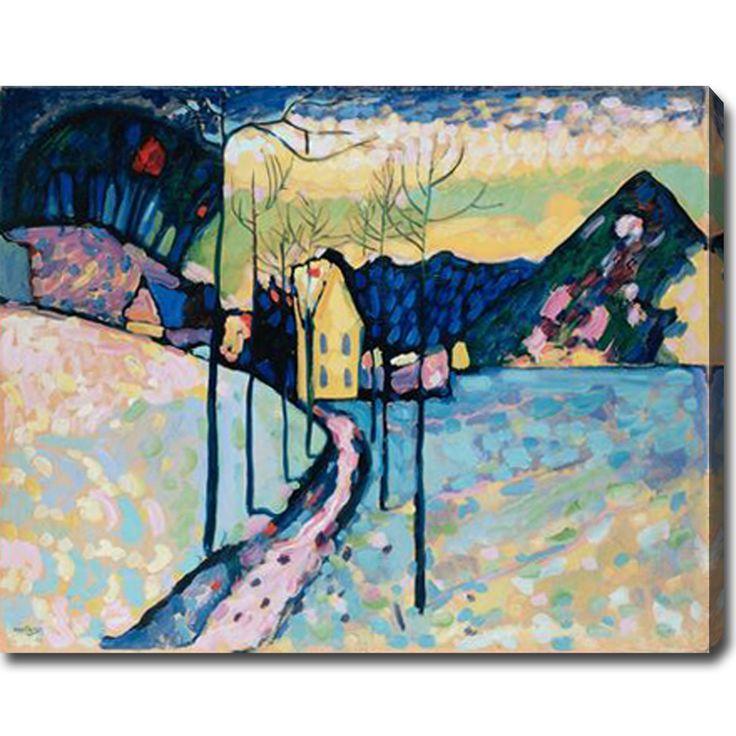 Wassily Kandinsky 'Winter Landscape' Abstract Oil on Canvas Art | Overstock.com