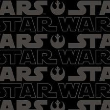 # Camelot Fabric - Star Wars - Black Logo - 100% Cotton