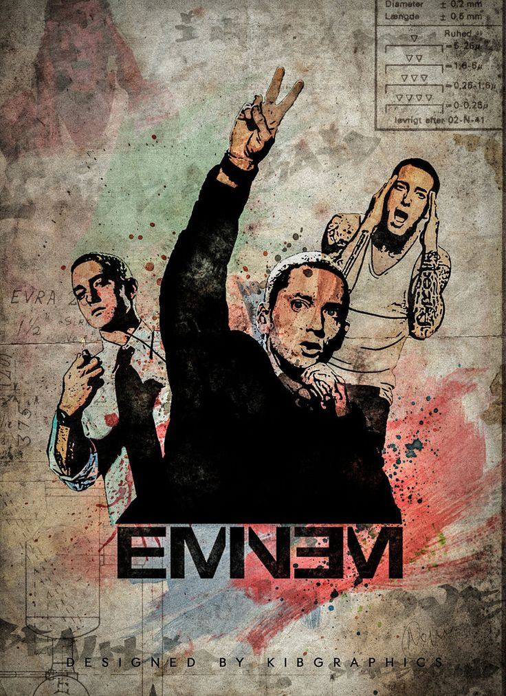 Eminem poster art by kibGraphics on DeviantArt