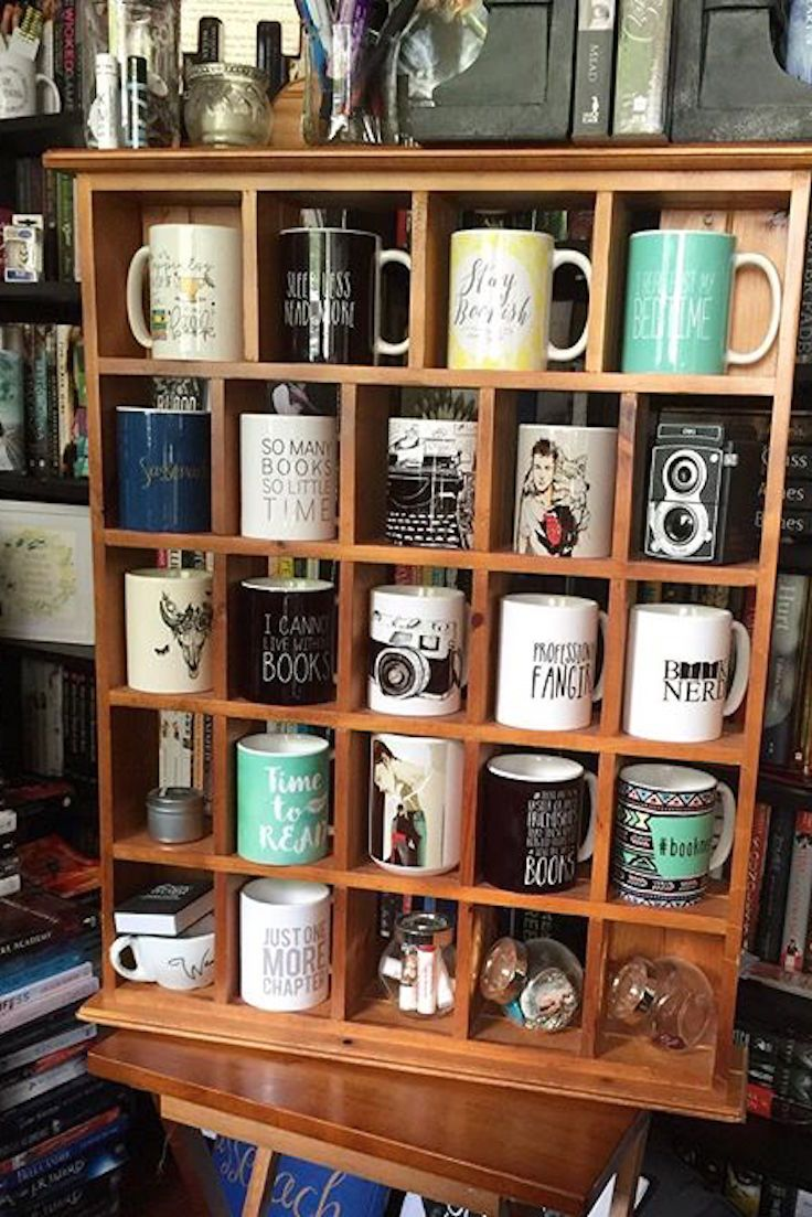We are seriously envious of this bookish mug collection... there's got to be a mug here for every book genre and every fandom! A cappuccino for this one, green tea for this one... deck out your own mug collection with these awesome designs from Redbubble.