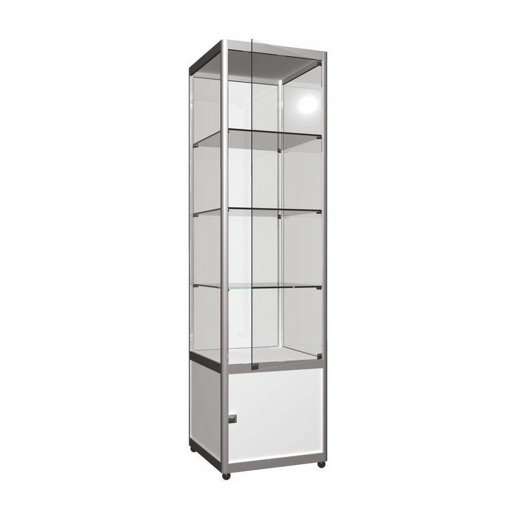 Uzun-Dar Cam Vitrin (Dolaplı) http://ores.com.tr/v3/urunler/cam-dolaplar/dolapli-uzun-dar-cam-vitrin/