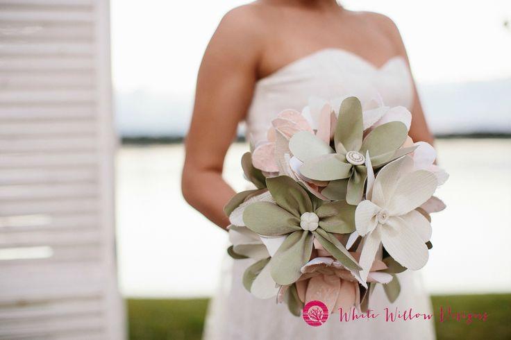 Image Kath Scott Photography Eco Brides, wedding flowers, handmade design fabric floral bouquet, spring wedding, pastel wedding flowers