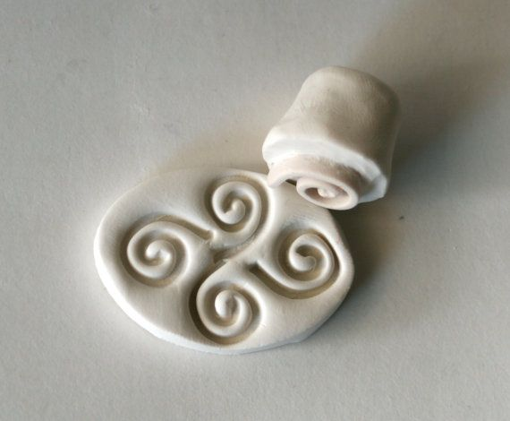 Mini Spiral Tiny Clay Stamp Pattern or Texture Tool for Metal Clay Polyclay Jewelry Making