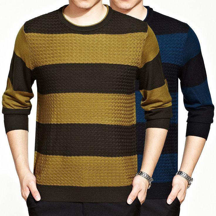 Дешевое Новый осень мужская мода Большой размер две полосы футболка мужская футболка мерсеризованной классический бизнес свободного покроя футболка, Купить Качество Футболки непосредственно из китайских фирмах-поставщиках:
