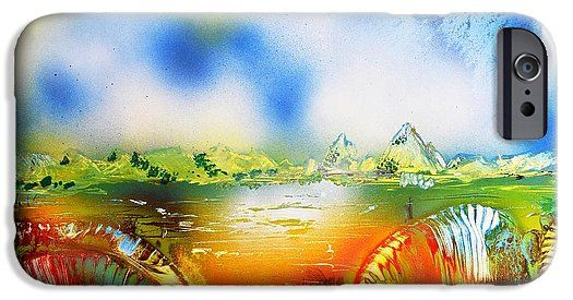 Rainbowland IPhone 6s Case Printed with Fine Art spray painting image Rainbowland by Nandor Molnar (When you visit the Shop, change the orientation, background color and image size as you wish)