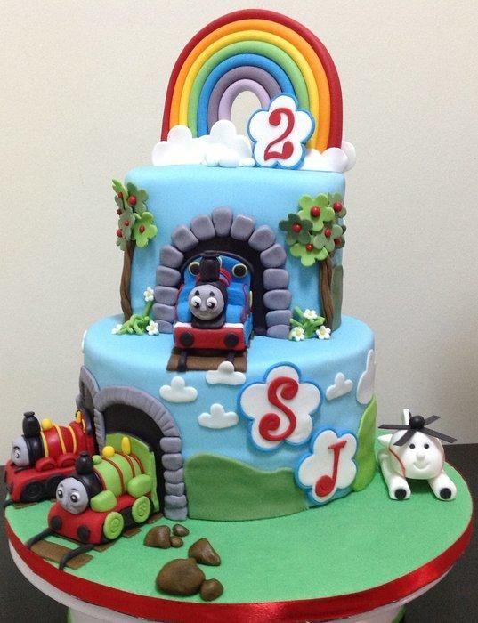 2nd Birthday Thomas the Tank Engine & Friends Cake Cake