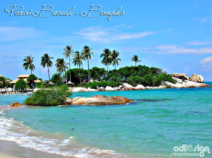 One of beautiful beach in Bangka Belitung, Indonesia <3. I'd love to visit this.. Beautiful..