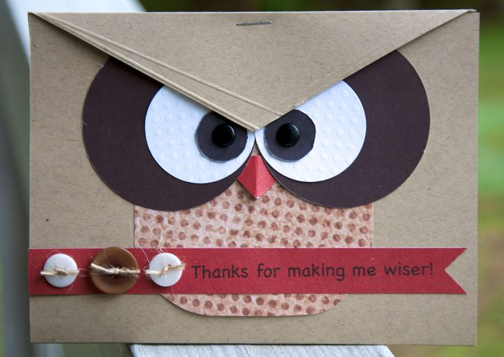 Thanks For Making Me Wiser - Scrapbook.comWiser, Cards Design, Crafts Ideas, Teachers Gift, Cards Gallery, Scrapbook Com, Graduation Cards, Scrapbookcom Cards, Teachers Cards