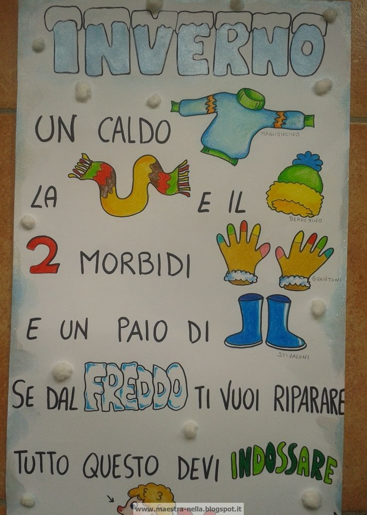 Maestra nella inverno poesia illustrata filastrocche - Poesie primaverili per la scuola materna ...