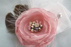 DIY Tutorial DIY JEWELRY / DIY Tutorial: Tutorials for My Hair Accessories / How to make satin fabric flower - Bead - Bead&Cord