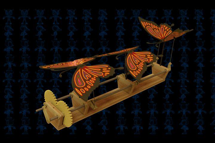 Butterflies Wooden Toy - AutoCAD,SOLIDWORKS - 3D CAD model - GrabCAD