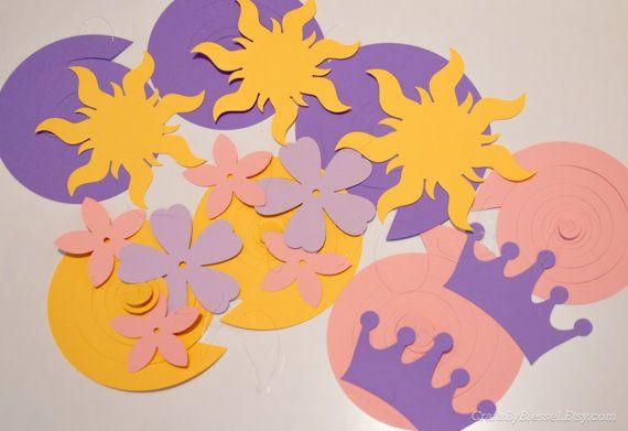Partido enredado serpentinas fiesta Rapunzel por CraftsByBiessel