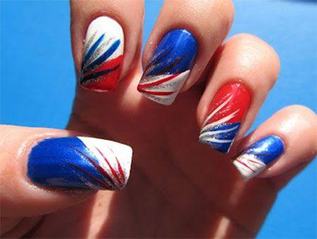 10 + American Flag Nail Art Designs, Ideas & Trends 2014   Fourth Of July - The 25+ Best American Flag Nails Ideas On Pinterest American