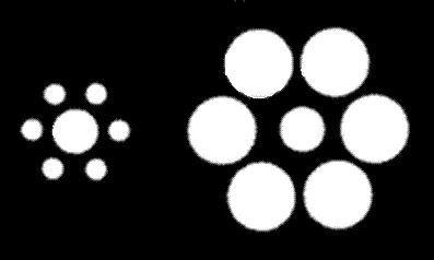 Los círculos del medio son iguales ?
