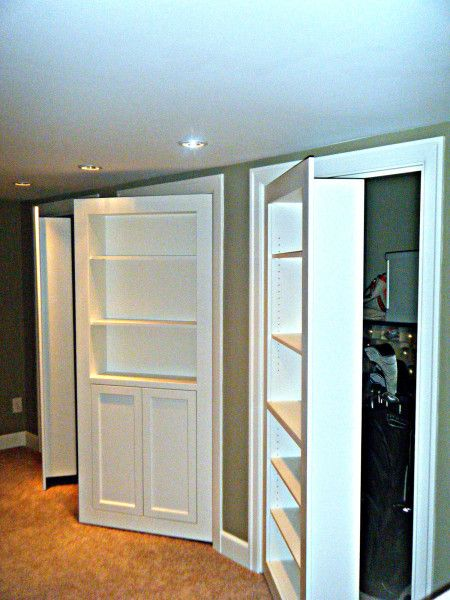 Clever Hidden Storage Built-ins - Basement storage??  Future space???
