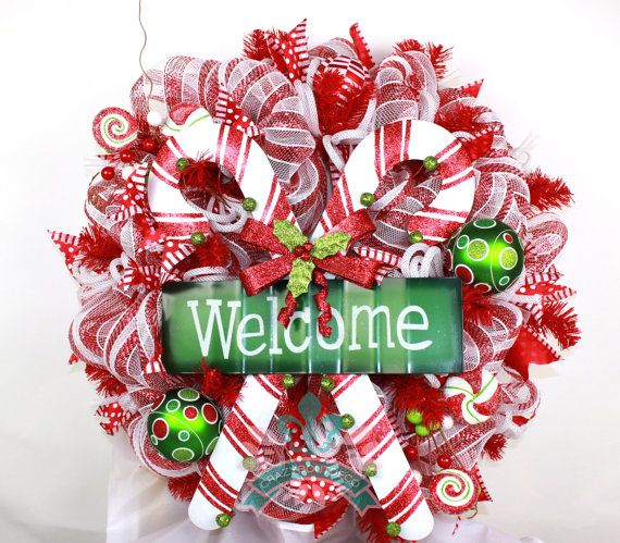 welcome christmas wreath on - photo #40