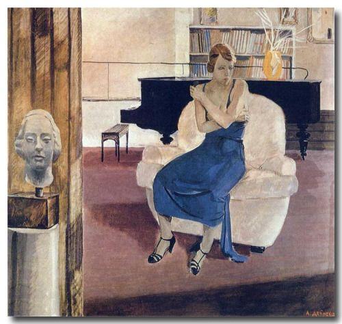 music-in-art: Aleksandr Deyneka (1899-1969) - Ennui, 1935,...