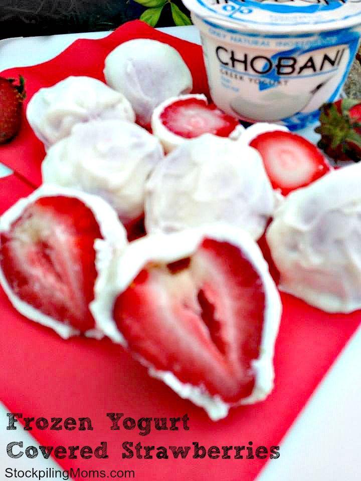 Frozen Yogurt Covered Strawberries | STOCKPILING MOMS™