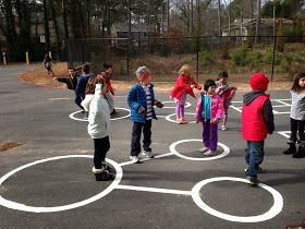 Playground math!  Ah! Our first graders are sooo excited about our new math zone! Using grant funds, we found a local paving company to pave number bonds, a ...