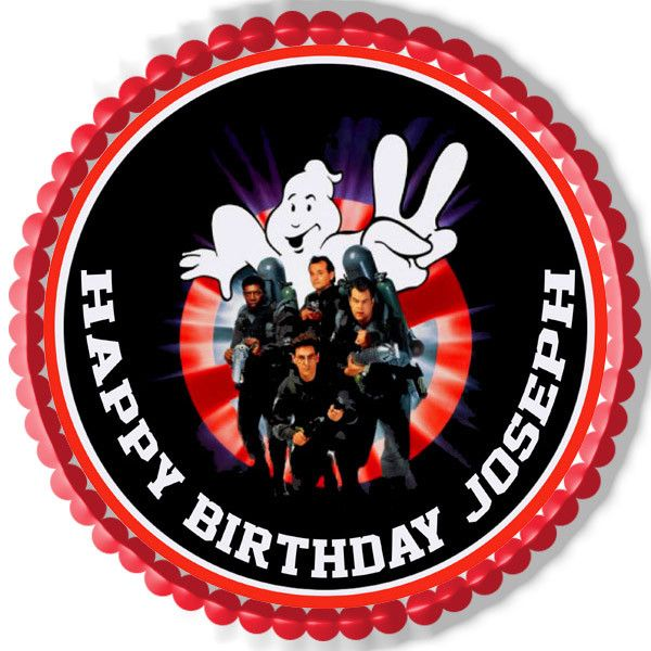 Ghostbusters 2 Edible Birthday Cake Topper OR Cupcake Topper, Decor