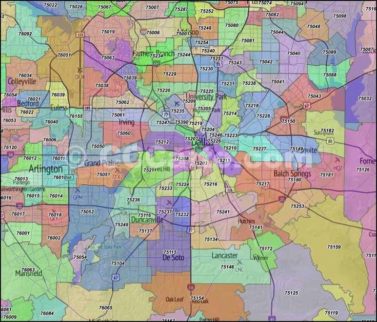Dallas Zip Code Map