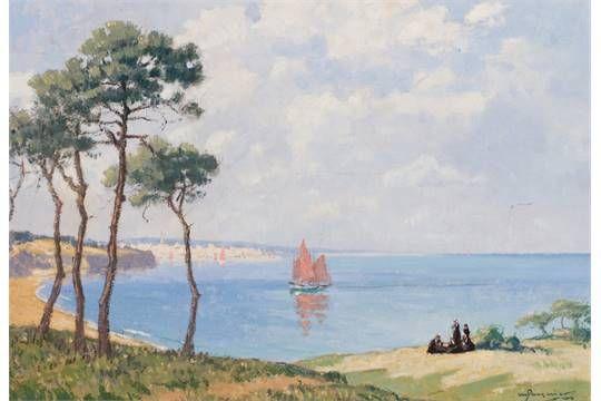 """Marcel Jacquier 1877-1957 """" La baie de Douarnenez"""