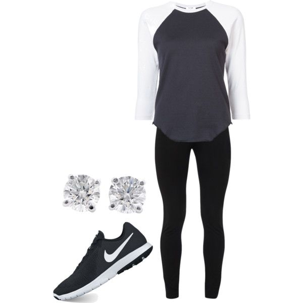 A fashion look from January 2018 featuring RE/DONE t-shirts, Peace of Cloth leggings and NIKE athletic shoes. Browse and shop related looks.