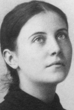 """Gemma Galgani from Lucca, most pure virgin, being in her twenty-fifth year, died of consumption, but was more consumed by the fire of divine love than by her wasting disease. On the eleventh of April, 1903, the vigil of Easter, her soul took its flight to the bosom of her heavenly Spouse. O beautiful soul, in the company of the Angels!"""" - inscription on the marble tablet that covers Saint Gemma Galgani's remains in the chapel of the Passionist Sisters in Lucca"""