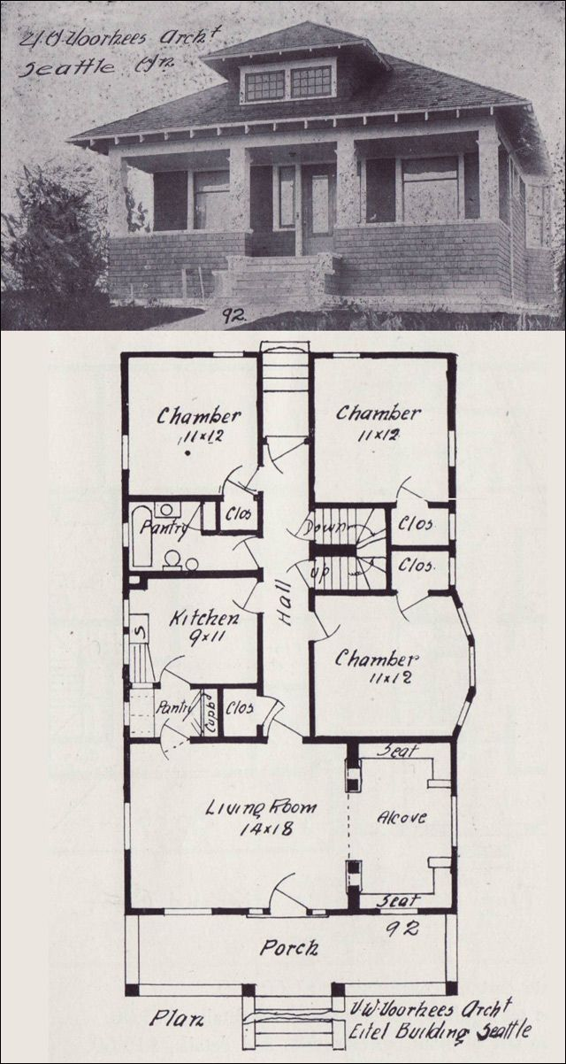 214 best vintage house plans 1900s images on pinterest for Western homes floor plans